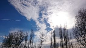 Piękny i imponująco niebo Obrazy Stock
