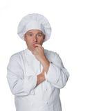 Piękny szef kuchni odizolowywający na bielu Obrazy Royalty Free