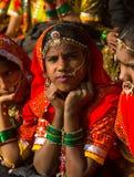Piękny Indiański dziewczyna portret Zdjęcia Stock