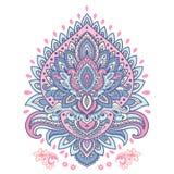 Piękny Indiański kwiecisty mandala ornament Obrazy Royalty Free