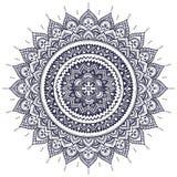 Piękny Indiański kwiecisty mandala ornament Fotografia Royalty Free