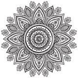 Piękny Indiański kwiecisty ornament ilustracja wektor