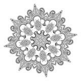 Piękny Indiański kwiecisty ornament mandala Obrazy Stock
