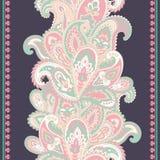 Piękny Indiański kwiecisty Paisley ornamentu bezszwowy druk ethnic ilustracja wektor