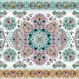 Piękny Indiański kwiecisty Paisley ornamentu bezszwowy druk ethnic royalty ilustracja