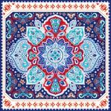 Piękny Indiański kwiecisty Paisley ornamentu bezszwowy druk ethnic ilustracji