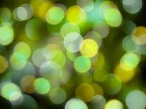 Piękny jaśnienie zamazujący zaświeca w koloru żółtego i zieleni iskrzastym abstrakcjonistycznym tle ilustracja wektor