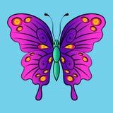 Piękny jaskrawy czarodziejski motyl również zwrócić corel ilustracji wektora Obrazy Royalty Free