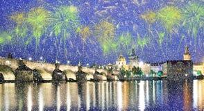Piękny jaskrawy kolorowy miasto krajobraz w starym mieście Praga obrazy stock