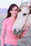 piękny jej końska kobieta Zdjęcie Royalty Free