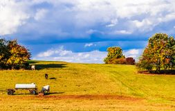 Piękny jesień krajobraz obok Wernigerode w Niemcy zdjęcia stock