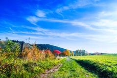 Piękny jesień krajobraz obok Wernigerode w Niemcy fotografia royalty free
