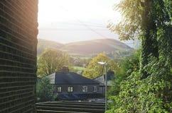 Piękny jesień spadku krajobrazu wizerunek szeroka wieś w Pic Fotografia Royalty Free