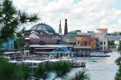 Piękny Jeziorny Buena Vista widok w Disney wiośnie zdjęcie stock
