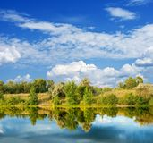 piękny jeziorny lato Zdjęcia Stock