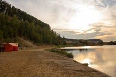 piękny jeziorny wschód słońca Obrazy Stock
