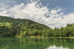 Piękny jezioro i molo obrazy stock