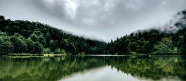 Piękny jezioro krajobraz fotografia royalty free