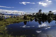 Piękny jezioro przy góra wierzchołkiem Obrazy Stock