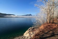 Piękny jezioro w bavaria zdjęcie royalty free