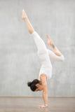 Piękny joga: Adho Mukha Vrksasana poza fotografia royalty free