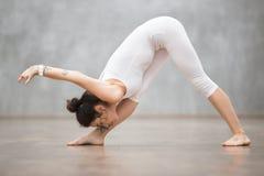 Piękny joga: Ostrosłup poza Obrazy Royalty Free