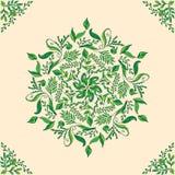 Piękny kółkowy kwiecisty bezszwowy wzór Ornamentacyjny round koronki wzór, wektorowa ilustracja Obraz Stock