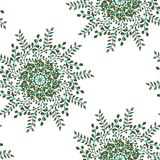 Piękny kółkowy kwiecisty bezszwowy wzór Ornamentacyjny round koronki wzór, wektorowa ilustracja kwiecisty bukiet na a Fotografia Royalty Free
