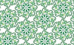 Piękny kółkowy kwiecisty bezszwowy wzór Ornamentacyjny round koronki wzór, wektorowa ilustracja kwiecisty bukiet na a Zdjęcie Stock