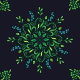 Piękny kółkowy kwiecisty bezszwowy wzór Ornamentacyjny round koronki wzór, wektorowa ilustracja kwiecisty bukiet na a Zdjęcia Stock