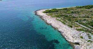 Piękny 4K powietrzny wideo Dalmatia, Chorwacja, Europa zbiory wideo