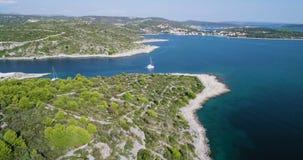 Piękny 4K powietrzny wideo Dalmatia, Chorwacja, Europa zbiory