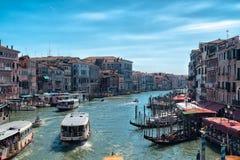 Piękny kanał grande Wenecja Włochy Sierpień fotografia stock