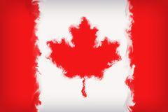 Piękny Kanada flaga zakończenie Up ilustracja wektor