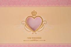 piękny karciany ślub Obraz Royalty Free