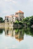 Piękny kasztel w Tata, Węgry, podróży miejsce przeznaczenia Zdjęcie Royalty Free