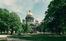 piękny katedralny Isaac świętego widok Zdjęcia Stock