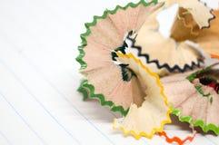 Piękny kawałek drewno dżonka od ostrzarki kredki zdjęcia royalty free