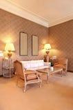 piękny klasyczny żywy pokój Zdjęcia Stock
