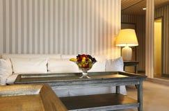 piękny klasyczny żywy pokój Obrazy Royalty Free