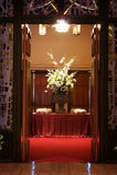 piękny kościół kwiaty do ślubu zdjęcie stock