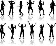 Piękny kobiet tanczyć ilustracja wektor