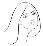Piękny kobieta portret royalty ilustracja