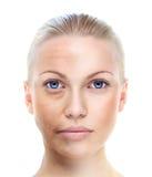 Piękny kobieta portret odizolowywający na bielu Fotografia Stock