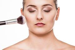 Piękny kobieta portret z naturalnym makeup obraz stock