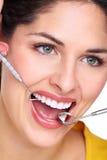 Piękny kobieta uśmiech. zdjęcia stock