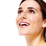 Piękny kobieta uśmiech. zdjęcie stock