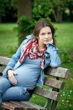 piękny kobieta w ciąży obrazy royalty free