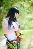 Piękny kobieta w ciąży Obraz Stock