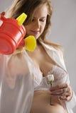 piękny kobieta w ciąży Fotografia Royalty Free